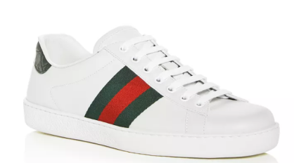 Gucci Men's Ace Leather Lace Up/ Bloomingdales.com